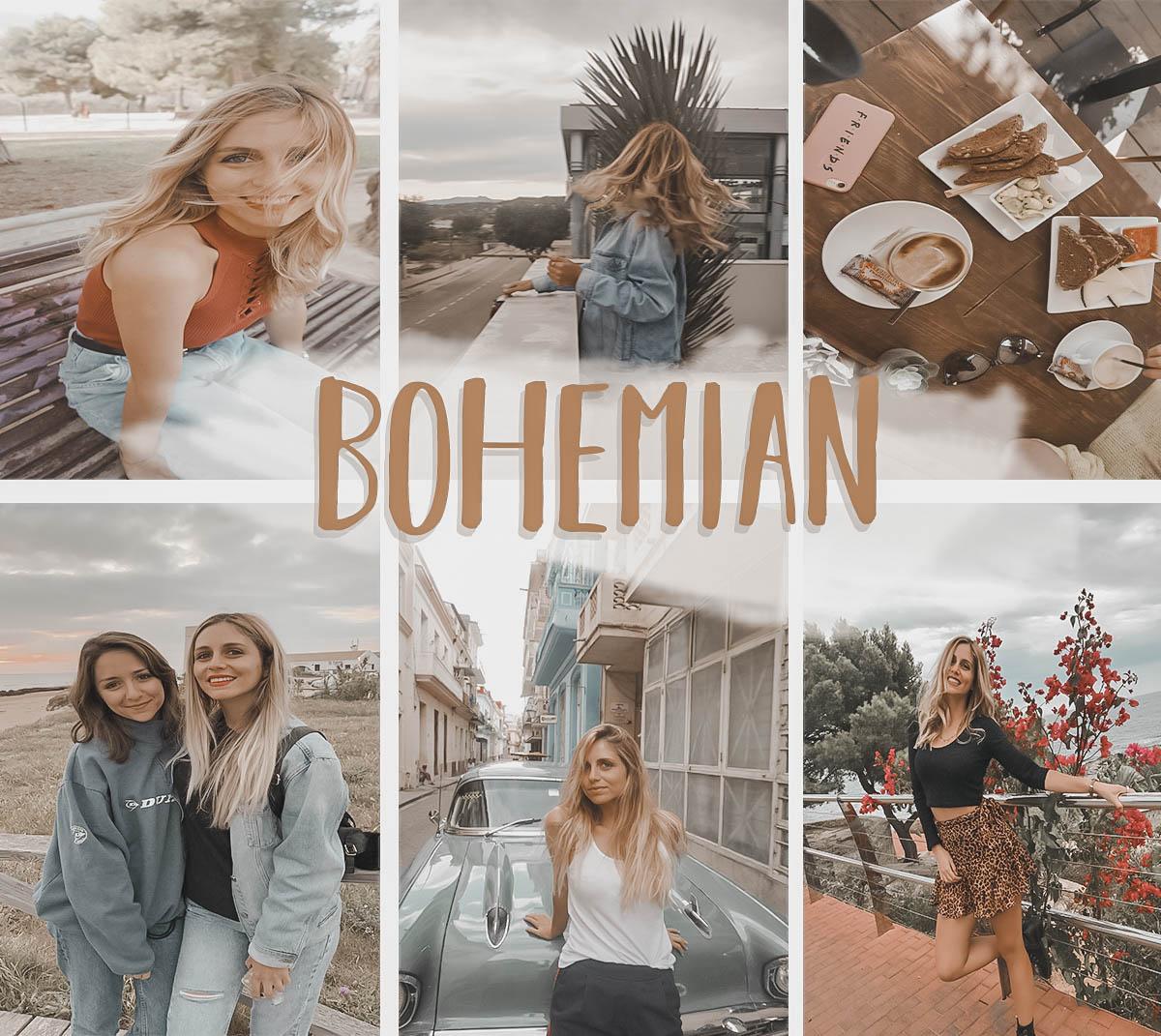 Fotos editadas con el preset Bohemian